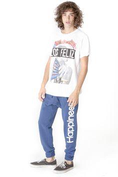 Get this look here! Top: http://www.shophappiness.com/t-shirt-uomo-los-feliz.html Pants: http://www.shophappiness.com/pant-turca-blu.html