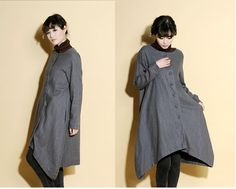 Asymmetrical+Linen+Long+Jacket/+12+Colors+by+Ramies+on+Etsy,+$84.00