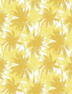 'Palm Shuffle' Wallpaper by Wallshoppe - Lemon / Daffodil - Wallpaper Roll