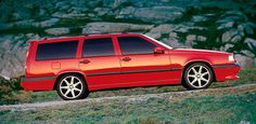 """96 Volvo 850R looking beautiful on silver 17"""" Volans."""