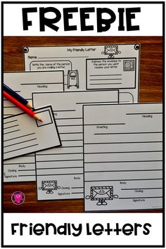 Friendly Letters writing templates and graphic organizer FREEBIE! Use these differentiated writing pages and graphic organizer to give students practice writing friendly letters! Check out all this packet offers teachers to use with primary and intermediate kids. #friendlyletters #partsofafriendlyletter #writingactivities #writingtemplate #graphicorganizers #firstgrade #oink4pigtales #freeTpTresource