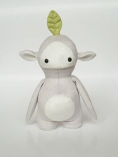 Drop the Seedling. Cute handmade plush monster. by CreepyandCute, €45.00