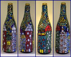 Mosaic wine bottle by Meaco's Art Garden, via Flickr