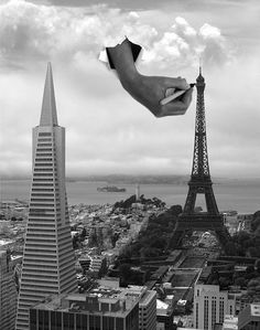 Сюрреалистические , монохромные фотоработы Томаса Барбе.