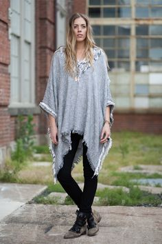 LOVE the poncho with leggings