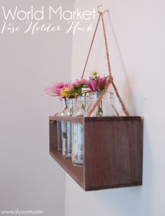 World Market Vase Holder Hack #bathroomdecor #worldmarket #vases #bathroom