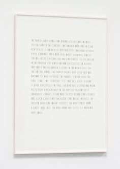 Matthew Brannon Your Teeth in Your Hand, 2012  silkscreen on paper  111,76 × 76,2 cm (44 × 30 inches)
