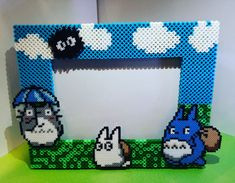 My Neighbor Totoro Perler Bead Collage Frame