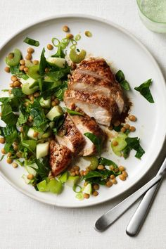 Balsamic Chicken with Apple, Lentil and Spinach Salad – Healthy Chicken Recipe