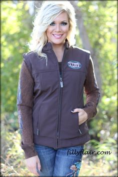 Cowgirl Tuff Vest in BROWN - Filly Flair