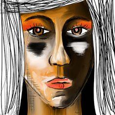 "Retrato digital ""Días raros!  /  Digital portrait ""Strange days"""