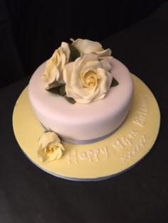 Pretty Simple Birthday cake Chic and Delicious Cakes Pinterest