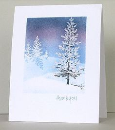 Instructions for making this and another wintry card
