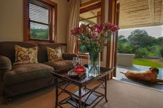 Dune Ridge Country House St Francis Bay, Eastern Cape, South Africa lounge looking out over the #nature #reserve