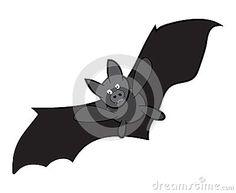 Vector Halloween bat cartoon. Illustration isolated on white background.