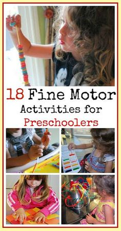 Pinterest Pin of the Week: 18 Fine Motor Activities for Preschoolers   - Pinned by @PediaStaff – Please Visit  ht.ly/63sNt for all our pediatric therapy pins