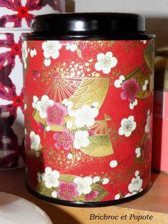 Boite à thé motif japonais