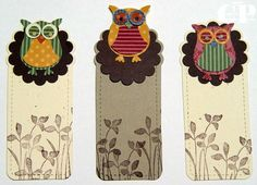 Owl bookmarks/tags