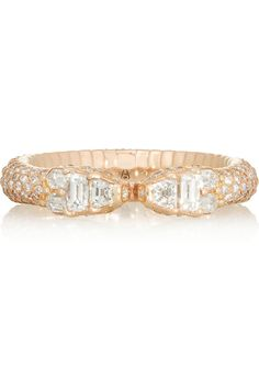 Repossi | Ophydienne 18-karat rose gold diamond ring | NET-A-PORTER.COM