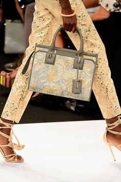 The Best Shoes, Bags, and Baubles on the 2015 Runways -- Dennis Basso Spring 2015