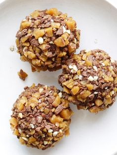 Espresso Chocolate Truffles With Toffee recipe from Food Network Kitchen via Food Network