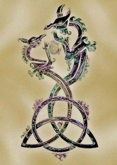 unique Meaningful Tattoos Ideas – Celtic dragons… Love this! unique Meaningful Tattoos Ideas – Celtic dragons… Love this! Celtic Dragon Tattoos, Dragon Tattoo For Women, Dragon Tattoo Designs, Small Celtic Tattoos, Wiccan Tattoos, Symbolic Tattoos, Tattoos Skull, Body Art Tattoos, Tatoos