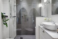 grey+bathroom | Stockholm Vitt - Interior Design