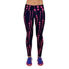 Fashion Jeans Pants for Women, Egmy 1PC High Waist Fitness Yoga Sport Pants Printed Stretch Nine Points Leggings (XL, Hot Pink)