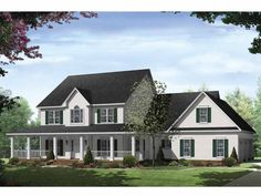 Eplans Traditional House Plan - Beautiful Traditional Country Plan - 3000 Square Feet and 4 Bedrooms from Eplans - House Plan Code HWEPL62713