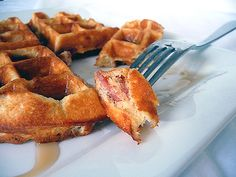 ... waffles yum cornmeal and chive waffles with salsa and eggs pinned from