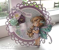 Summer Fairy card by Veertje - Cards and Paper Crafts at Splitcoaststampers