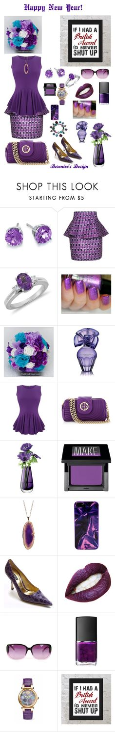 """""""Happy New Year My PolyFriends ;-)"""" by berenicebt ❤ liked on Polyvore featuring Blue Nile, FAIR+true, BCBGMAXAZRIA, Alexander McQueen, Henri Bendel, LSA International, Make, Valerie Nahmani Designs, Marc by Marc Jacobs and Dolce&Gabbana"""