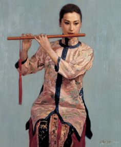 Chinese contemporary painting Yi Fei Chen 陈逸飞 ----BTW, Please Visit: http://artcaffeine.imobileappsys.com