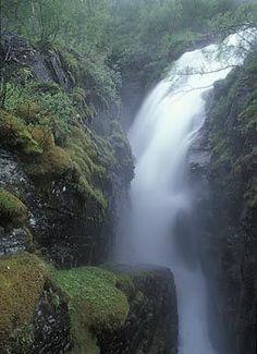 Waterfall, Silverfallet, Björkliden, Swedish Lapland