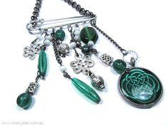 Celtic Kilt Pin Necklace
