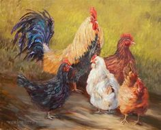"""Daily Paintworks - """"Rules the Roost"""" - Original Fine Art for Sale - © Lina Ferrara"""