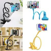 Wish | Universal Lazy Bed Desktop Car Stand Mount Holder For Cell Phone Long Arm