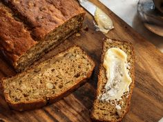 Olive Oil Zucchini Bread by Melissa Clark, nytimes: This moist loaf, made with olive oil and yogurt, is less sweet and more complexly flavored than most zucchini breads. Grated lemon zest gives a gentle brightness, while brown sugar adds a caramel sweetness, and cinnamon makes it spicy and rich. Serve slices plain or buttered, or spread thickly with cream cheese for a more tangy and luscious variation! #Zucchini_Bread #OLivve_Oil #Lemon #Brown_Sugar
