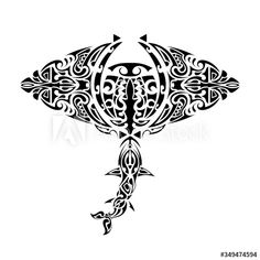 Stock Image: Stingray Polynesian style. Stingray tattoo in polynesia style. Good for tattoos, prints and t-shirts. Isolated. Vector. Stingray Tattoo, Polynesian Tattoo Designs, Tattoos, Prints, Image, Style, Products, Swag, Tatuajes