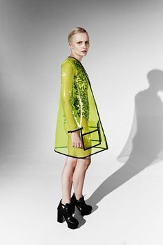 JOANNA PYBUS A/W13 Transparent Neon Yellow Pvc Coat by joannaPYBUS, £200.00