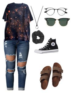 """What can't I do"" by rhyannmdc on Polyvore featuring FOSSIL, Boohoo, Ray-Ban, Converse and Birkenstock"