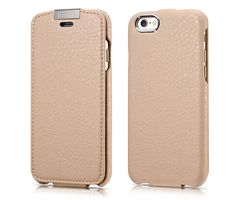 iCarer iPhone 6/6S Metal Warrior Microfiber Series Genuine Leather Flip Case Cover
