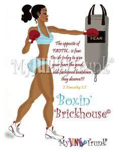 Boxin' Brickhouse- African American Fitness -Print. $18.00, via Etsy.