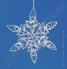 Quilling - Melissa would love this and what a nice change from the regular, folded and cut snowflakes!