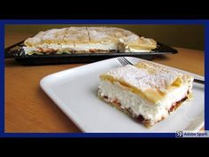 Povidloň. Tvarohovo-smetanové řezy s povidly v odpalovaném těstě. - YouTube French Toast, Sandwiches, Pie, Baking, Breakfast, Desserts, Youtube, Food, Simple