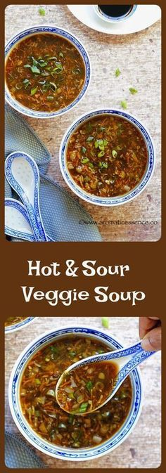 Hot and sour vegetable soup - Aromatic Essence