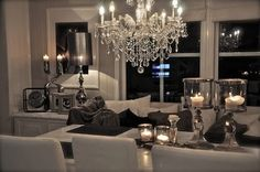 glamourous living room