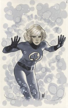 The fantastic 4's invisible woman by Adam Hughes