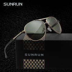 SUNRUN High-Quality Brand Men's Polarized Sunglasses Driving Mirror Sunglasses   Eyewear Oculo de sol feminino 9501