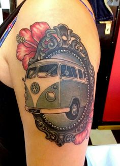 Framed camper van tattoo